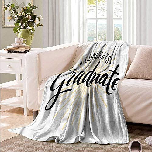 Oncegod Soft Warm Coral Fleece Blanket Graduation University Academy Theme Recliner Throw,Couch Throw, Couch wrap 60