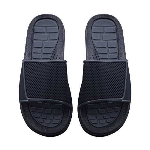 Sky Sole Mens Slide Sandals with Velcro Strap in Gray Trim, Size 9 by Skysole (Image #3)