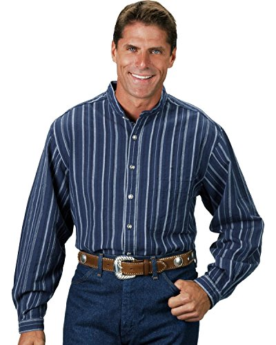 Lawman Shirt (Scully Rangewear by Men's Rangewear Lawman Shirt Blue Stripe Large)