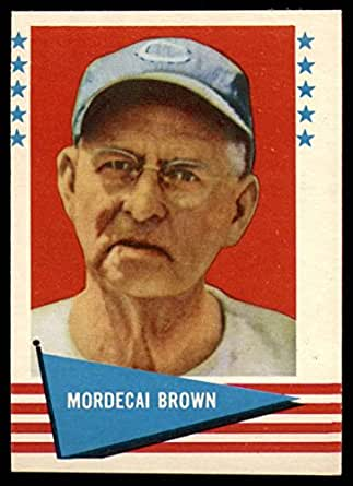 Amazon.com: Baseball MLB 1961 Fleer #11 Mordecai Brown NM Near Mint