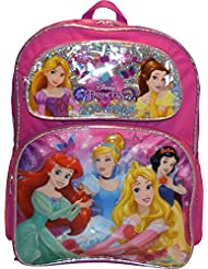 Disney Girls Princess Embossed 16 School Backpack