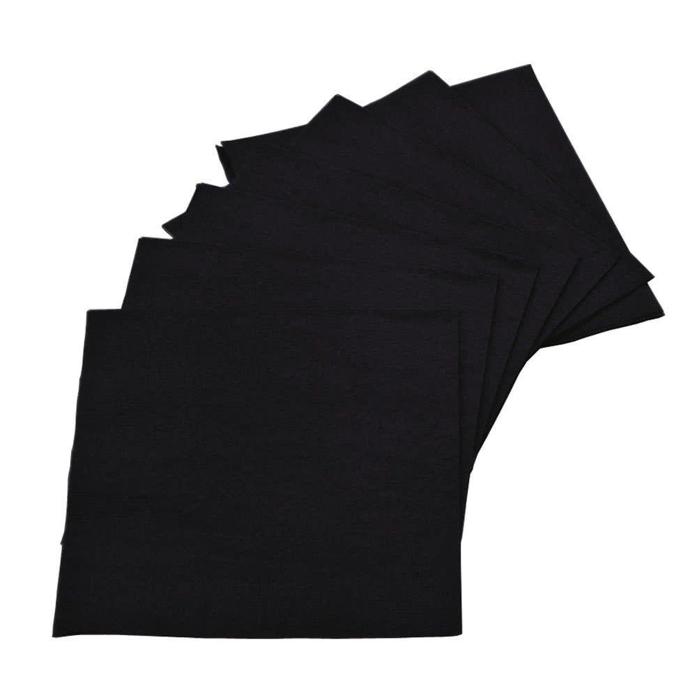 Black cocktail napkin