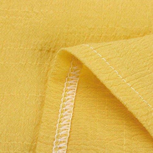 Clearance Nuoinet Loose Boho Back Women Yellow Sundress Hole Sleeveless Halter Summer Beach Dress Irregular dTxAr6wpTq