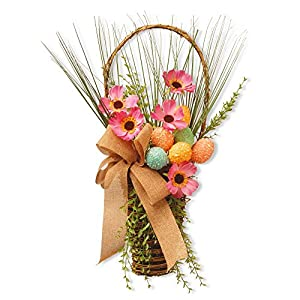 National Tree Company 23 in. Easter Basket with Flowers 78