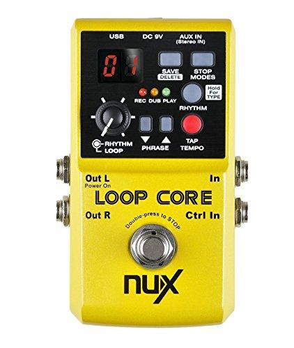 Nux Loop cpre Pedal grabador Este pedal le permite grabar y crear frases músicales y luego