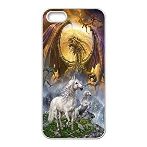 Horse & Unicorn series protective cover For Apple Iphone 5 5S Cases A-unicorn-B54014