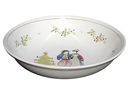 quimper christmas serving bowl