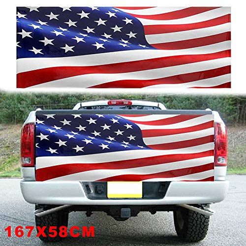 xxiaoTHAWxe American Flag Car Auto Truck Tailgate Wrap Graphic Decal Sticker Decoration