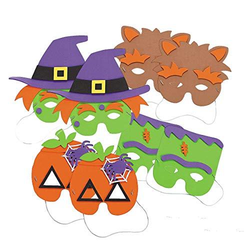 Fun Express Halloween Mask Craft Kit - Crafts for Kids & Hats & Masks, 2 Dozen Assorted Masks