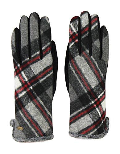 クラシックタータンチェック冬スマートタッチ手袋のショートメッセージ& Touchscreens