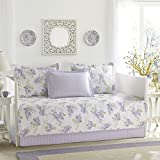 Laura Ashley Keighley 5-Piece Daybed Cover Set, Twin, Purple