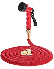 XiaoOu Hose Pipe with Garden Hose Expandable Flexible Water Hose Pipe Watering Kit with Spray Gun