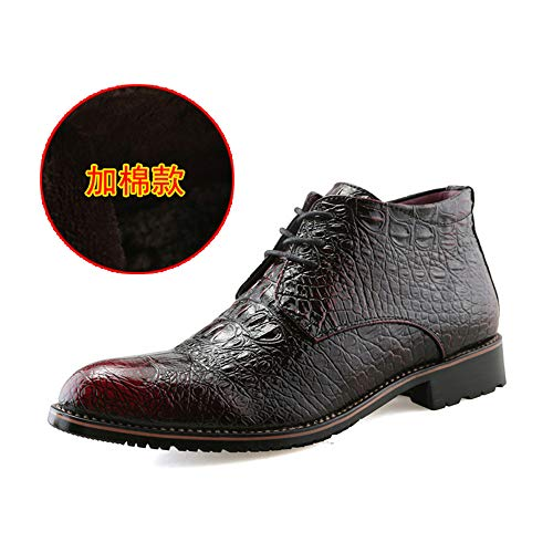 Scarpe Scarpe Stivali Formale Moda Oxford Business Stile Uomo 6 Nero Nero Nero High Caldo Warm con shoes e Cotone Xiaojuan Red Martin Casual Punta vaAZ8xq