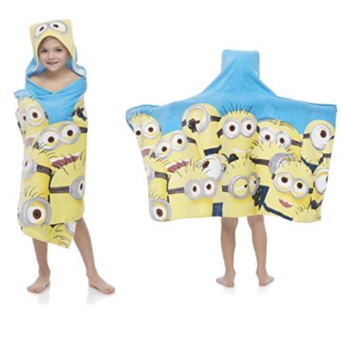 Universal Despicable Me Minions Kids Hooded Bath / Beach Towel Wrap