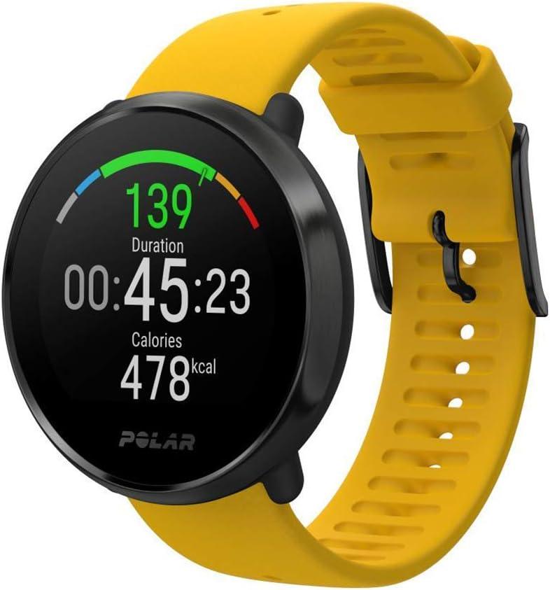 Polar Ignite – Reloj de fitness con GPS integrado, pulsómetro de muñeca, guías de entrenamiento - hombre/mujer - amarillo M/L