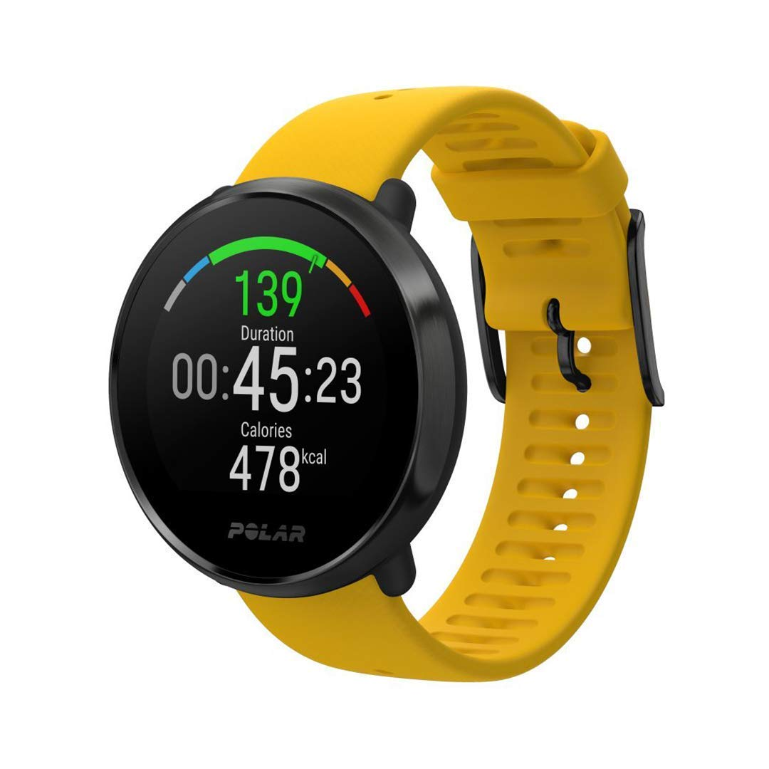 POLAR IGNITE - Advanced Waterproof Fitness Watch (Includes Polar Precision Heart Rate, Integrated GPS and Sleep Plus Tracking), Yellow/Black, M/L by POLAR