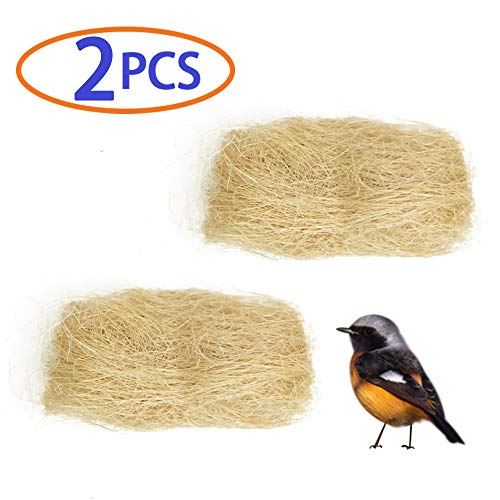 Finch Bird Nests - BLSMU Hummingbird Nesting Material,Nesting Pads,Finch Nest Filler,Bird Bedding,100% Natural Small Pet's Nest for Parakeet,Sparrow,Martin,Nuthatch,for Playing, Chewing