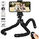 kungfuren iPhone Tripod New Premium Phone Tripod for iPhone Stand with Bluetooth Remote Camera Shutter Remote Shutter Release for Android iOS Smartphones Ipad Tablets Digital Camera Sports Camera Gopr
