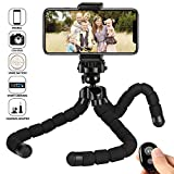 kungfuren iPhone Tripod Phone Tripod for iPhone Stand with Bluetooth Remote Camera Shutter Remote...