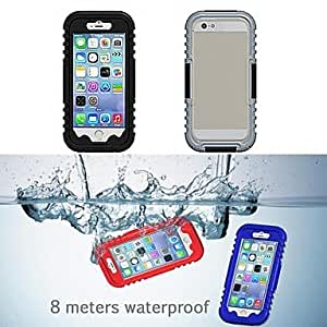 ZL IP68 Waterproof Protective Plastic and Silicone Shell Case for iPhone 6 Plus , White