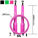 CLEARANCE SALE! SAVE 70% | Synergee Pink Speed Rope - (2) Adjustable 10 Ft Cable - Steel Ball Bearings
