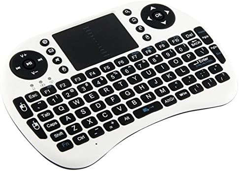 White Rcsbtd 2.4GHz 92 Winder Mini Radio Keyboard Mouse Combo with Touchpad