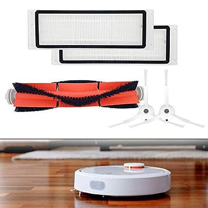 Majome Accesorios para Robot aspiradora,Cepillo principal + filtro HEPA + cepillos laterales Juego de