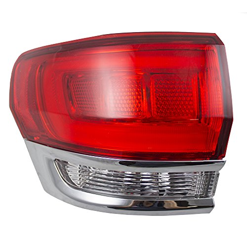 Drivers Taillight Tail Lamp Quarter Panel Mounted w/Chrome 14-18 Jeep Grand Cherokee Replaces 68110017AF CH2804106 166-02614L AutoAndArt