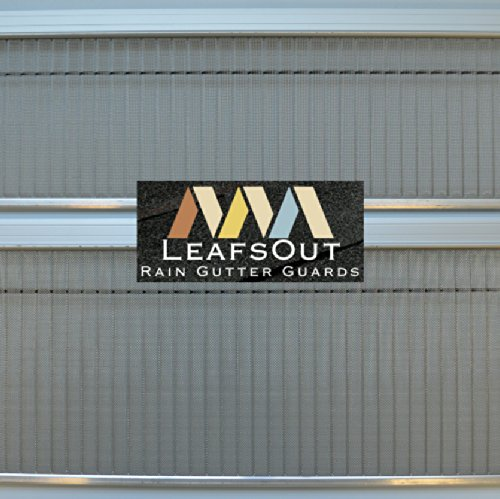 SAMPLE: Standard LeafsOut Micro Mesh Gutter Guard. Stainless steel leaf guard gutter cover shields out debris. Fits 5 inch gutter, 6 inches long.