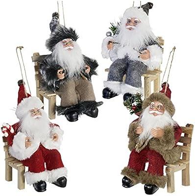 Weihnachtsdeko Stuhl.Christmas Paradise Weihnachtsmann Auf Stuhl Im Viererpack Beeindruckende Weihnachtsdeko In 18cm Größe Weihnachten Deko Nikolaus Santa Claus