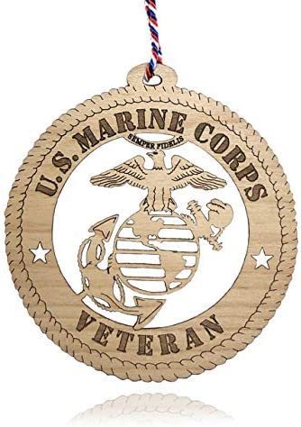 THANK YOU FOR YOUR SERVICE U S MARINE CORPS CHRISTMAS ORNAMENT X-MAS ORNAMENT