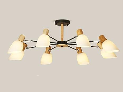 Lampadario Plafoniera Per Soggiorno : Nm nordic semplice creativo in legno massello soffitto plafoniera
