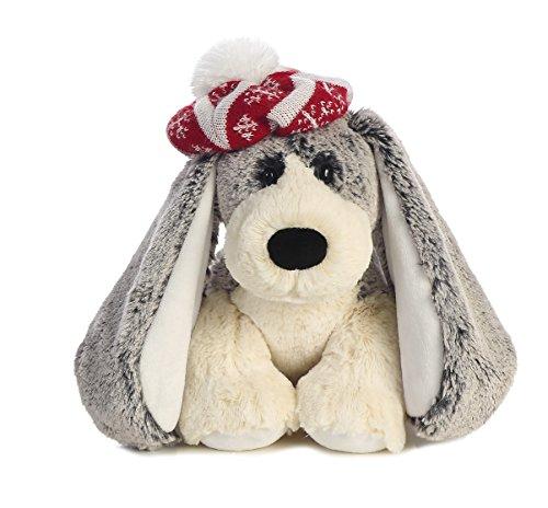 Adorned Teddy Bear Charm (Aurora World Cheers Pup Plush, Grey, 10