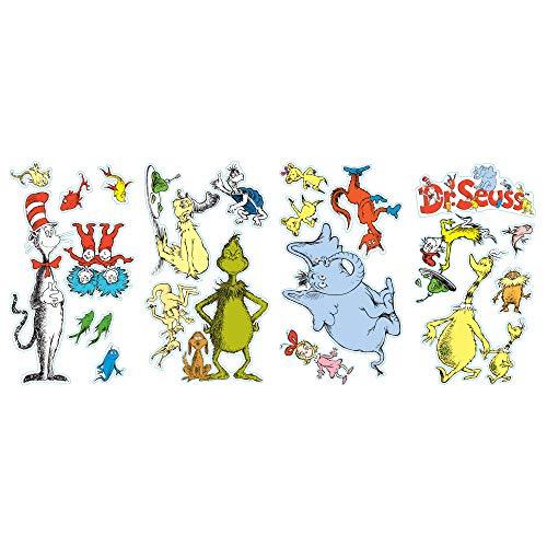 Doctor Seuss Birthday (BirthdayExpress Dr Seuss Room Decor - Removable Wall)