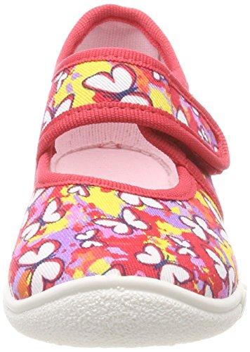 Superfit Mädchen Belinda Haus-Schuhe Rot (Fire Kombi)