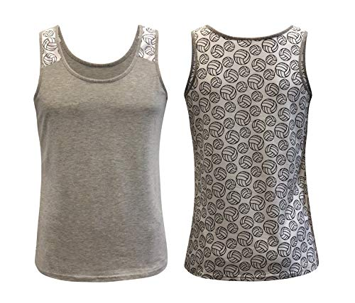ILTEX Sports Tank Tops for Mom Fans Apparel Baseball Softball Basketball Soccer Volleyball (Volleyball, ()