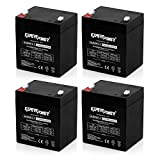 Automotive : (4 Pack)ExpertPower 12V 5Ah Home Alarm Battery With F1 Terminals || EXP1250