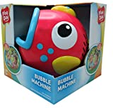 Play Day Red Fish Bubble Blowing Machine Toy
