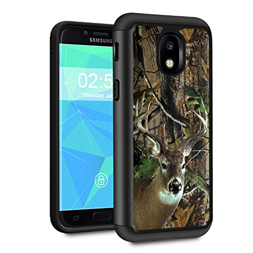 Galaxy J3 2018 Case,J3 V 3rd Gen/J3 Star/J3 Achieve/Amp Prime 3 Case,Spsun Dual Layer Hybrid Hard Protector Cover Anti-Drop TPU Bumper for Samsung Galaxy J3 2018,Deer Hunting Camo (Hunting Star)