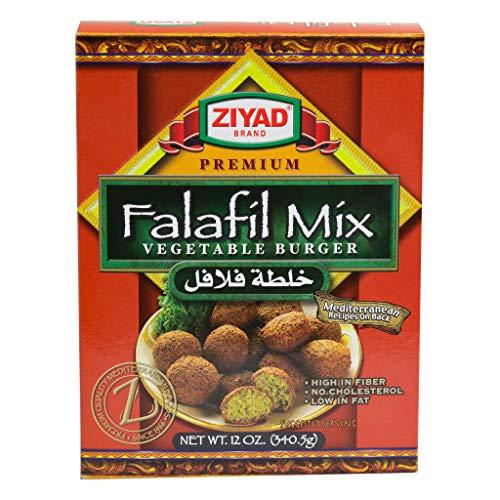 Ziyad 100% All Natural Falafel Dry Mix, Non-GMO, No Preservatives, No Additives, Gluten-Free, Vegan, Veggie Burger Mix, 12 Oz ()