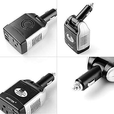 BESTEK 75W Power Inverter DC 12V to 110V AC Car Inverter Power Converter: Electronics
