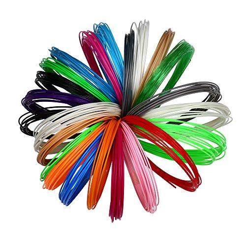 3D Pen Filament Refills - 20 STENCIL EBOOK & BONUS GLOW I...