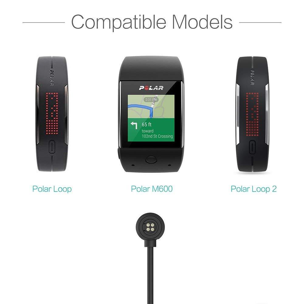 Base de Carga USB Compatible con Polar M600 Smartwatch Charger ...