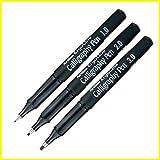 Artline Ergoline Calligraphy Fountain Pen with 1.0,2.0 & 3.0mm nibs - Black Ink