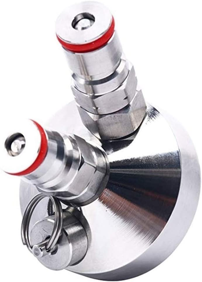 YQUC Duradera 100% Nuevo Mini Barril Grifo dispensador for la Herramienta Cerveza Mini Barril de Cerveza de Acero Inoxidable Dispensador de 3,6 litros / 5L / 10L Presión (Color : Silver)