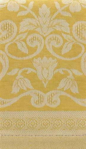 Tessitura Pardi Damasco Yellow Misto Linen Small Italian Hand Towel ()
