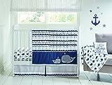Wendy Bellissimo 4pc Nursery Bedding Baby Crib Bedding Set - Elephant Whale Love in Grey Pink Navy White