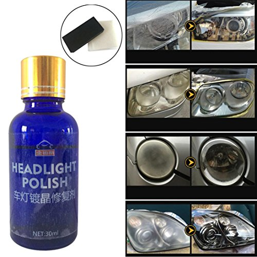 Car Headlights Oxidation Liquid Ceramic Coat Set Super Hydrophobic Glass Coating High Gloss Car Maintenance Accessories for Safe Driving Gessppo