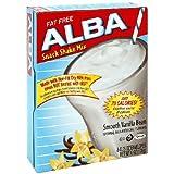 Alba Shack Shake Mix - SMOOTH VANILLA BEAN Flavor - 1 Box with 8  0.75oz envelopes of mix
