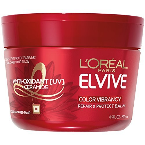 L'Oreal Paris Elvive Color Vibrancy Repair and Protect Balm, 8.5 fl; oz; (Packaging May Vary)